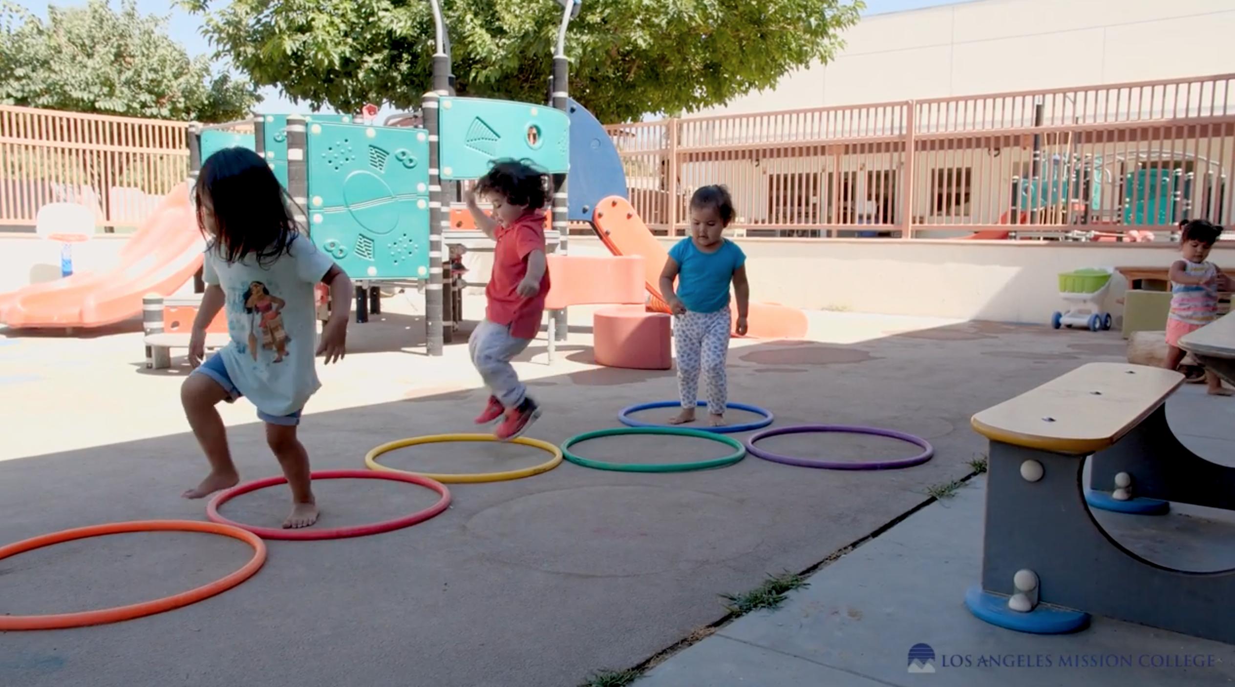 Children playing at the Child Development Center