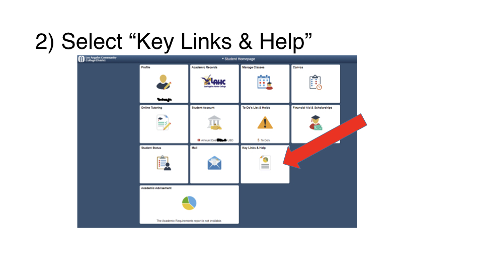 Click on 'Keylinks and Help'