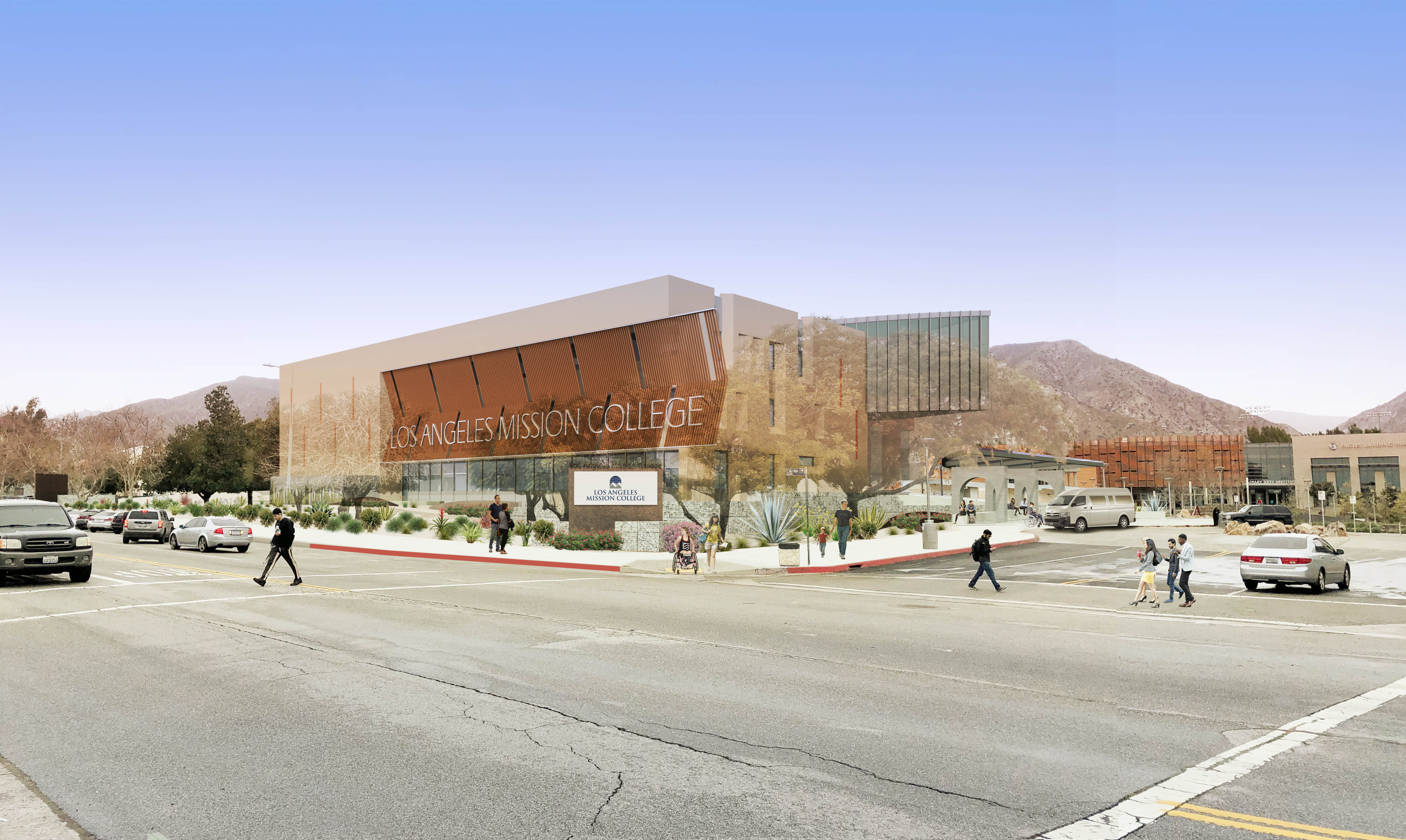 Artist's rendition of Student Services Building