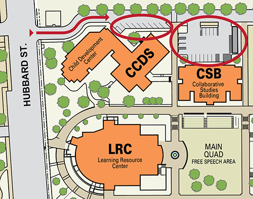 Map of Child Development Center Parking Lot