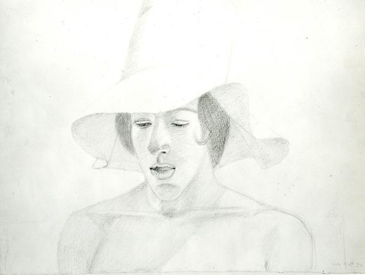 Alex Katz. (American, born 1927). Boy with a Hat. 1974. Pencil on paper