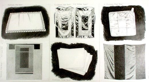 Andrea Zittel. (American, born 1965). Functionally Fixed and Functionally Unfixed Panels. (1998). Pencil on paper