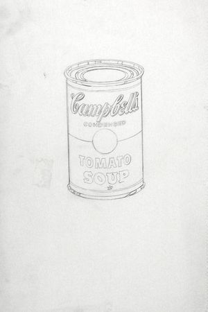 Andy Warhol. (American, 1928-1987). Campbell's Soup Can (Tomato). (c. 1962). Pencil on notebook paper