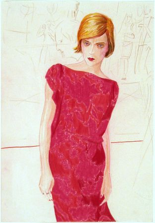 Elizabeth Peyton. (American, born 1965). Chloe. 2000. Colored pencil on paper