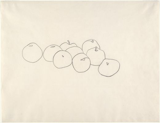 Ellsworth Kelly. (American, born 1923). Apples. Paris, 1949. Charcoal pencil on paper