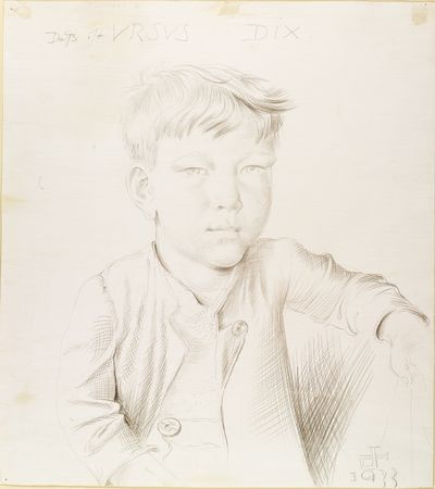 Otto Dix. (German, 1891-1969). This is Ursus. 1933. Silverpoint on prepared paper