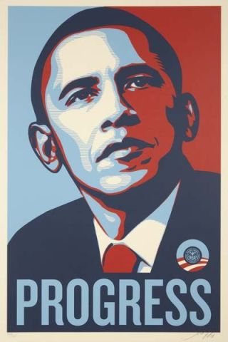 Barak Obama by Shepard Fairey