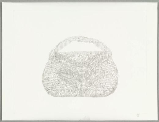 Victoria Gitman. (Argentinian, born 1972). On Display (Purse). (2003). Pencil on transparentized paper
